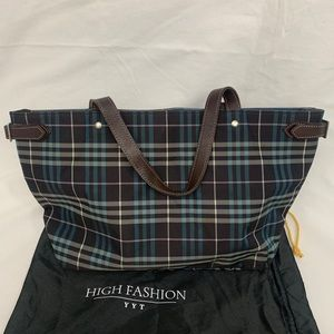 Authentic Burberry blue label tote